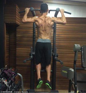 Cristiano Ronaldo traint als een atleet