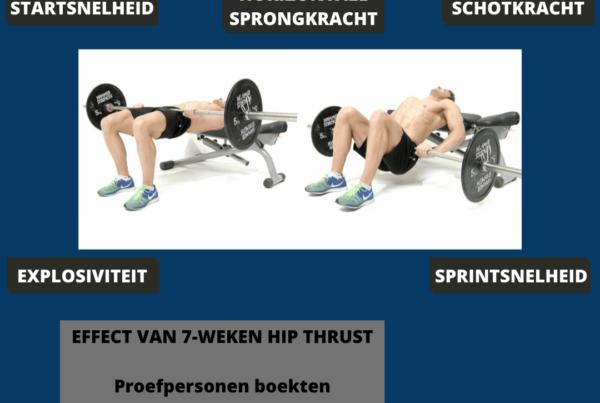 hip thrust voor voetballers