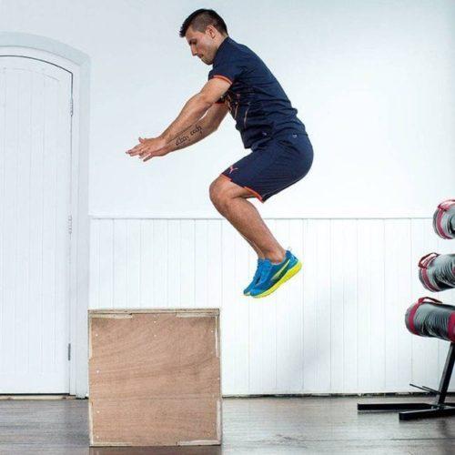 Box Jumps pylometrie Voetballers Aguero